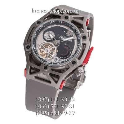 Hublot Techframe Ferrari Tourbillon Chronograph All Gray-Red