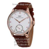 IWC Portuguese Hand-Wound Brown/Gold/White