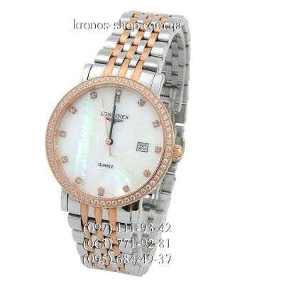 Longines Elegant Collection Diamonds Silver-Gold/Gold/White