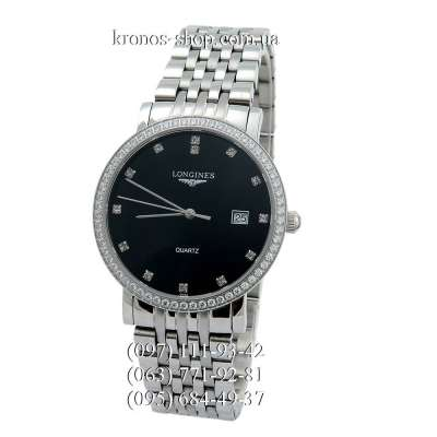 Longines Elegant Collection Diamonds Silver/Black