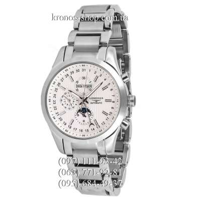 Longines Conquest Classic Moonphase Silver/White