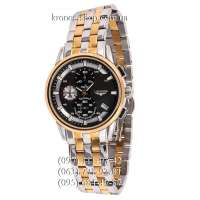 Longines Chronograph Steel Silver-Gold/Gold/Black