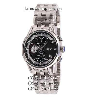 Longines Chronograph Steel Silver/Black