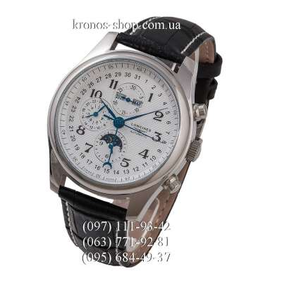 Longines Master Collection Moonphases Black/Silver/White