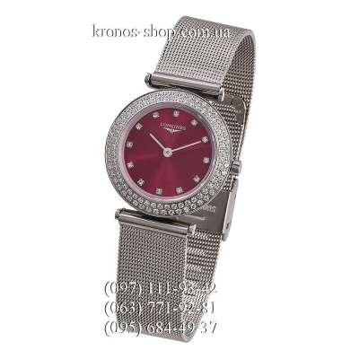 Longines La Grande Classique Diamonds Silver/Red