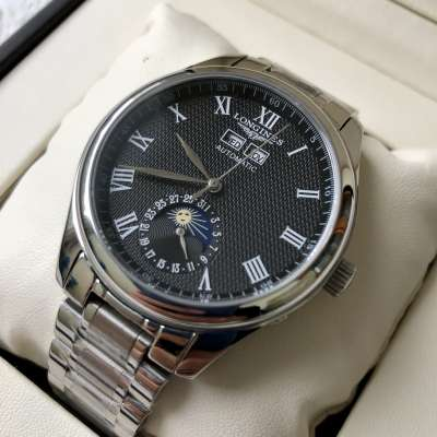 Longines Master Collection Steel Silver/Black