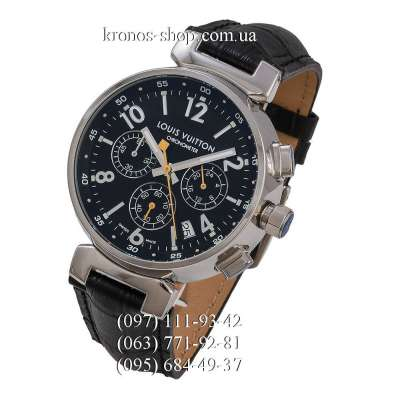 Louis Vuitton Tambour Essentials Chronograph Black/Silver/Black