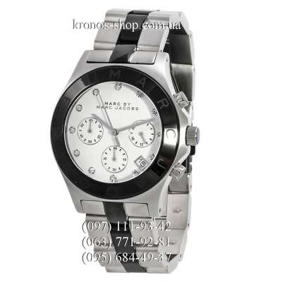 Marc Jacobs MBM3100 Blade Chrono Silver-Black/Black/White