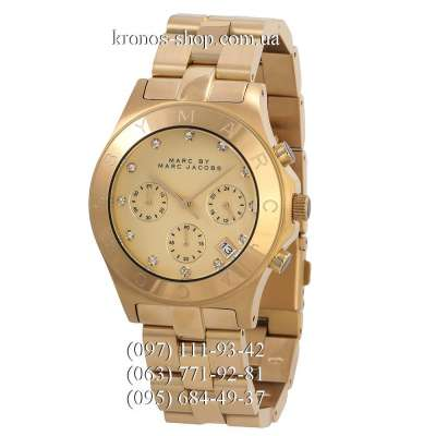 Marc Jacobs MBM3101 Blade Chrono All Gold