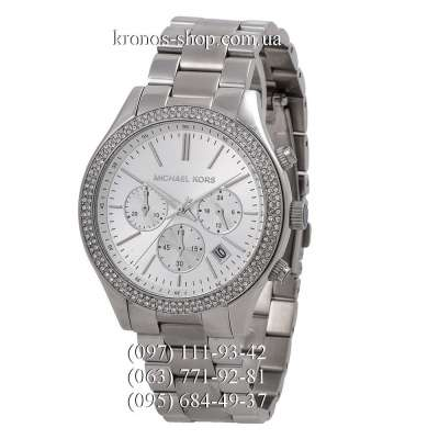 Michael Kors MK6250 Slim Runway All Silver