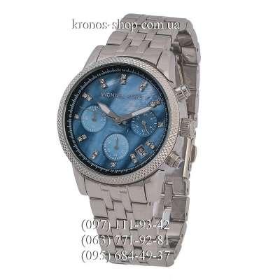 Michael Kors Ritz Chronograph Silver/Sky Blue