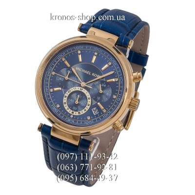 Michael Kors Sawyer Chronograph Blue/Gold/Blue