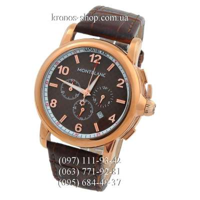 Montblanc Chronograph Series Brown/Gold/Brown