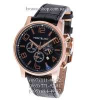 Montblanc TimeWalker Chronograph Black/Gold/Black-Brown