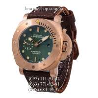 Panerai Luminor 1950 Submersible Leather Brown/Gold/Green