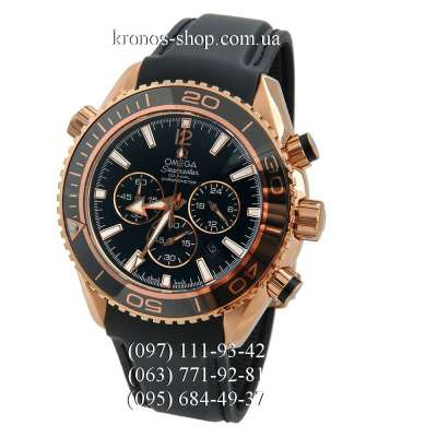 Omega Seamaster Planet Ocean Chronograph Black/Gold/Black