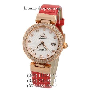 Omega De Ville Ladymatic Red/Gold/White