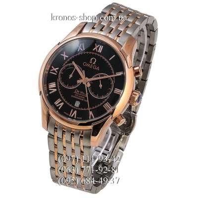 Omega De Ville Co-Axial Chronograph Silver-Gold/Gold/Black