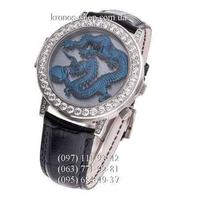 Piaget Altiplano Double Jeu Dragon Pave Black/Silver/Blue
