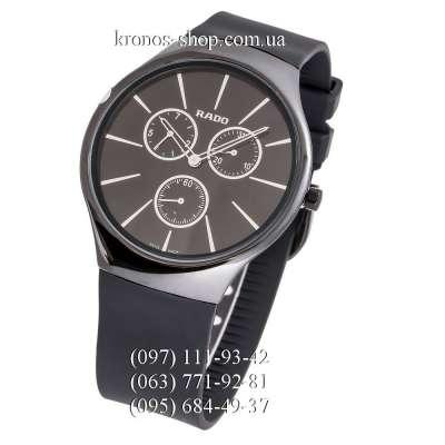 Rado True Thinline Chronograph Rubber All Black-White