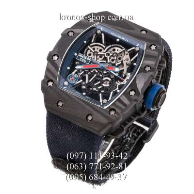 Richard Mille RM 035-01 Forged Carbon PSG Paris KVF Nylon Blue/Black-Blue
