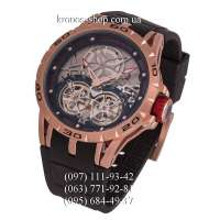Roger Dubuis Excalibur Spider Double Flying Tourbillon Black/Gold-Red