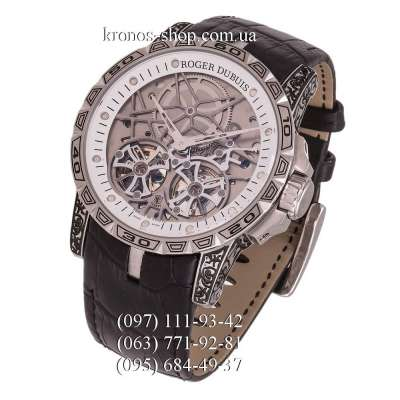 Roger Dubuis Excalibur Power Reserve Engraved Black/Silver/White