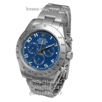 Rolex Cosmograph Daytona Arabic Numerals Silver/Silver/Blue