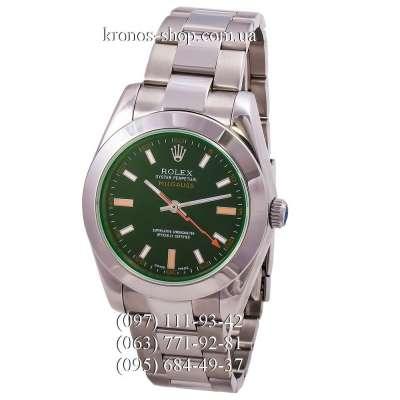 Rolex Oyster Perpetual Milgauss Silver/Green