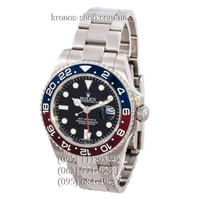 Rolex GMT Master II Pepsi Silver/Red-Blue/Black-Red