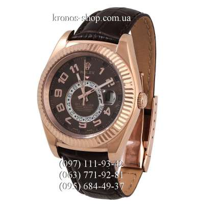 Rolex Sky-Dweller Leather Brown/Gold/Brown
