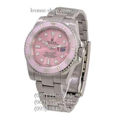 Rolex Submariner Date Ceramic Bezel Silver/Pink/Pink