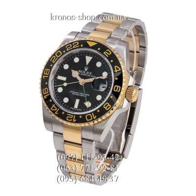 Rolex GMT Master II Silver-Gold/Black-Yellow/Black-Green