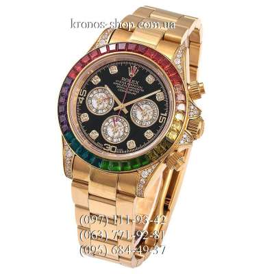 Rolex Cosmograph Daytona Rainbow Chronograph Yellow Gold