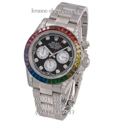 Rolex Cosmograph Daytona Rainbow Chronograph White Gold