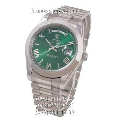 Rolex Day-Date Steel Rome Silver/Green