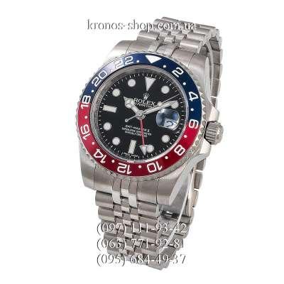 Rolex GMT Master II Pepsi Jubile Bracelet Silver/Blue-Red/Black-Red