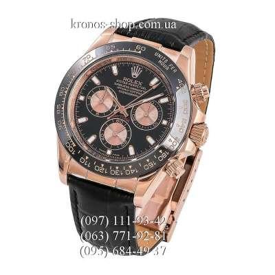 Rolex Cosmograph Daytona Leather Everose Gold/Black-Gold