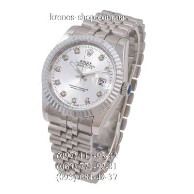 Rolex Datejust Steel Brilliants Fluted Bezel Silver/White