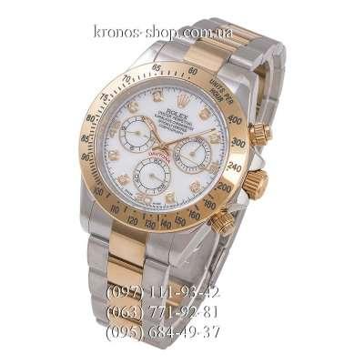 Rolex Cosmograph Daytona AAA Diamonds Silver-Gold/White-Gold
