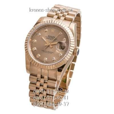 Rolex Datejust Steel Brilliants Fluted Bezel All Gold