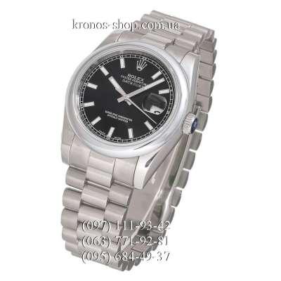 Rolex Datejust Steel Silver/Black