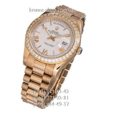 Rolex Day-Date Steel Diamonds Gold/White