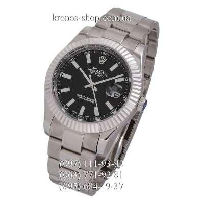 Rolex Datejust Steel Fluted Bezel Silver/Black