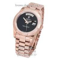 Rolex Day-Date Steel Black Onyx/Rose Gold