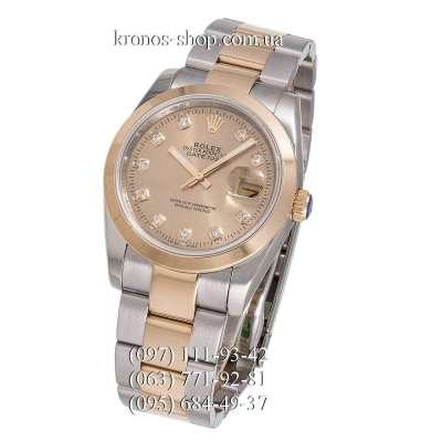 Rolex Datejust Steel Brilliants Silver-Gold/Gold