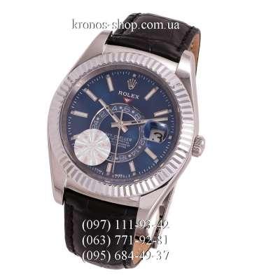 Rolex Sky-Dweller Leather Black/Silver/Blue