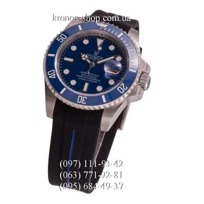 Rolex Submariner Rubber Black/Silver/Blue