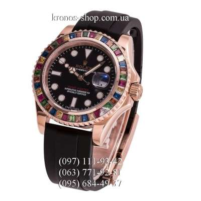 Rolex Yacht-Master Rainbow 116695 Rubber Black/Gold/Black