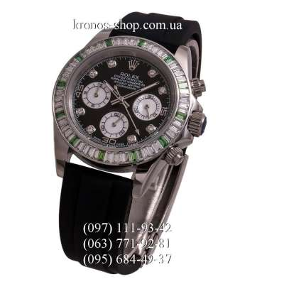 Rolex Cosmograph Daytona Chronograph Green Markers Rubber Black/Silver/Black
